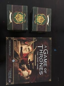 The Game of Thrones Card Game + expansion card packs