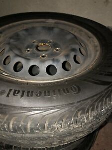 195 65 15 continental summer tires and Volkswagen rims