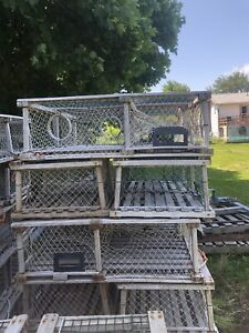 "44"" wooden lobster traps"