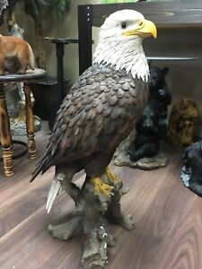 Large realistic bald eagle statues