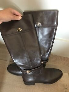 Coach leather boots 7 REDUCED