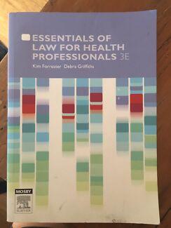 Nursing textbook - Essentials of Law for Health Professionals