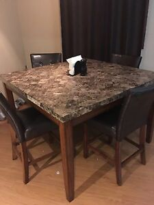 Beautiful granite dining room table