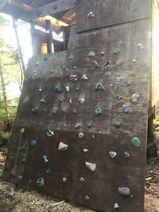 Pressure treated plywood for rock climbing wall
