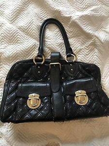 Marc Jacobs Quilted Black Leather Tote Bag