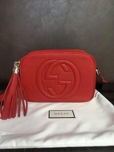 Gucci GG Soho Red Leather Disco Crossbody