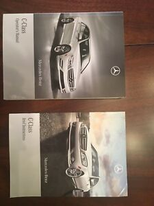 Two Mercedes-Benz C-class operator's manuals
