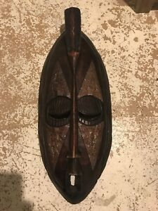 Hanging wooden mask