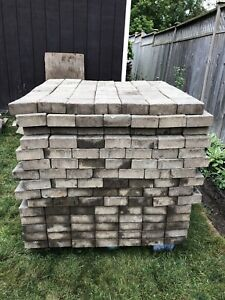 """Patio Stones 6"""" Square. I have 1 Skid Left. Don't Loose Out"""