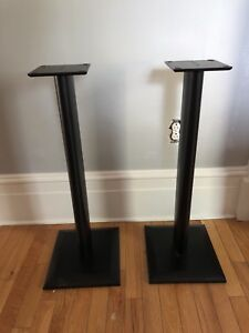 Black speaker stands - excellent condition