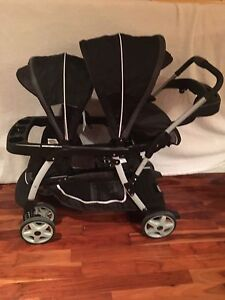 Graco Ready2Grow 4-in-1 Double Stroller PLUS car seat!
