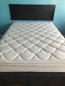 Queen size mattress and box spring and frame for sale