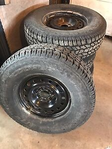Cooper Discoverer A/T Winter tires on Steel Rims