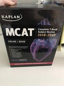 Kaplan MCAT study guides + flashcards