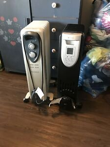2 Portable Oil Filled Radiator / Heaters