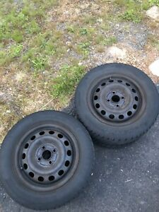 4x100 rims and tires  50$obo/trades