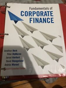 Fundamentals of Corporate Finance 2nd Edition