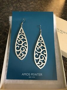 Amos Pewter jewellery NEW