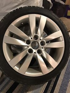 Bmw 3 series wheels and winter tires. 17 inch