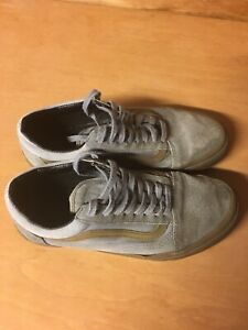 Grey Leather VANS size 7.5