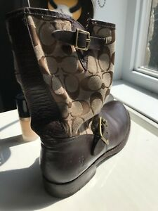 COACH X FRYE LEATHER BOOTS