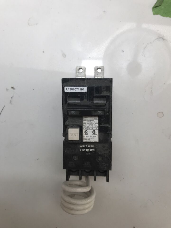 Siemens 30 amp 2 pole GFCI breaker new - bolt on