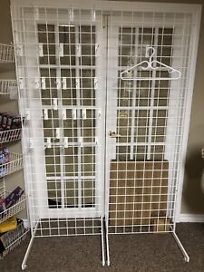 Gridwall Vendor racking /Display shelves used only once