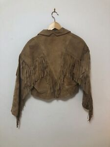 Vintage Fringe Suede Leather Jacket