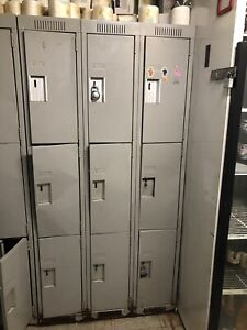Steel Lockers (Multiple Sets) **GREAT DEAL**