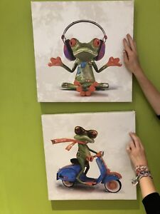 Frog Art for kids' room !