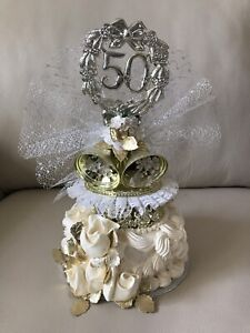 50th Anniversary Cake Topper / Centerpiece