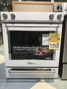 KitchenAid Slide-In Convection Range with Baking Drawer