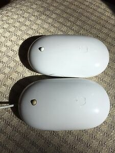 Apple/Mac mice – one wired and one wireless Mighty Mouse