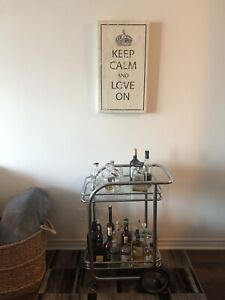 CONDO MOVING SALE: LARGE GLASS BAR CART