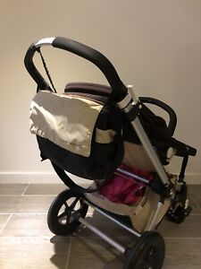 bugaboo cameleon 2 with bassinet, diaper bag and 3 canopies