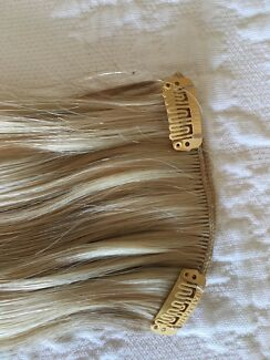 Hair Extensions Real Blonde 22 Cm X 5 Pieces