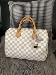 Authentic Louis Vuitton Speedy 30 in Damier Azure