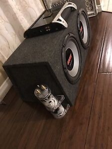 """^^** 2 12"""" PIONEER SUBS & JBL AMP 1000 WATTS WITH CAPACITOR!!"""