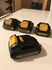 Dewalt 12V Lithium Ion Batteries