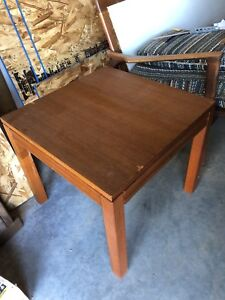 "21"" Square Danish teak End table"