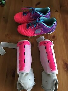 Girls Soccer Cleats and Shin Guards