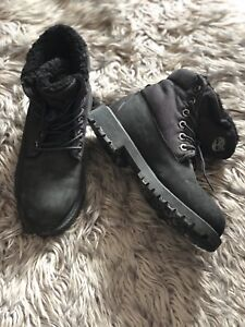 Timberland Black Foldable Boots