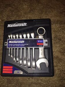 Standard mastercraft stubby 9 piece wrench set