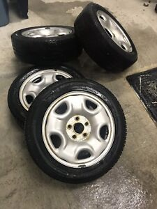 205 55 16 winter tires with rims and TPMS Michelin XIce