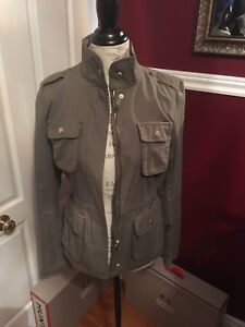 H&M green army jacket size 4 brand new