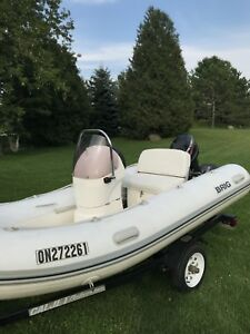 Zodiac 13ft with a 25hp merc