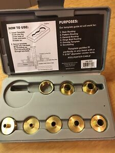 Router bit template guide set