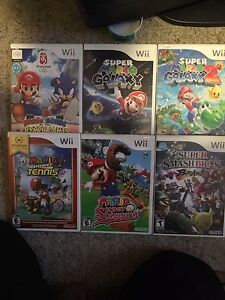 Wii mario games-SMASH BROS, MARIO TENNIS and other greats!