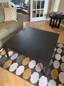 Solid Wood Black Coffee Table