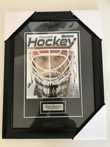 Signed and Framed Martin Brodeur 2004 World Cup Preview